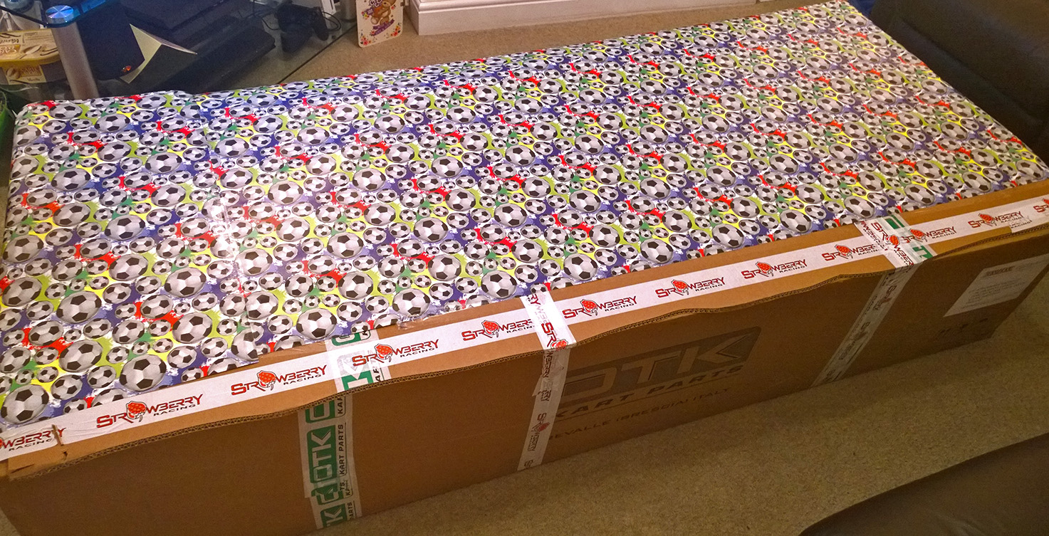 Good job I bought four rolls of wrapping paper!